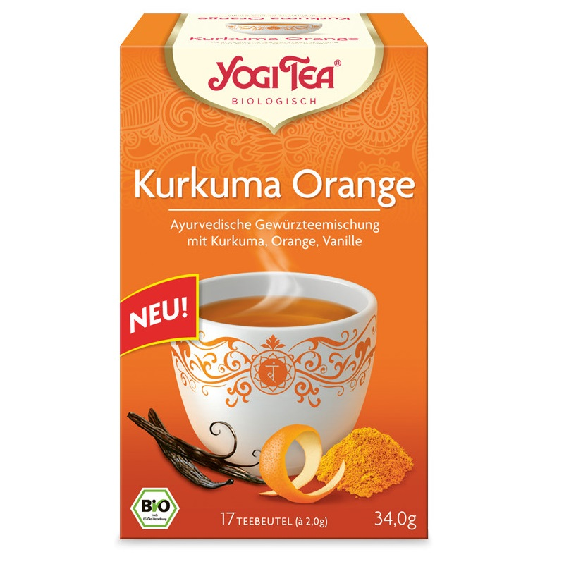 Yogi Tea Bio Kurkuma narancs tea, 17db filter