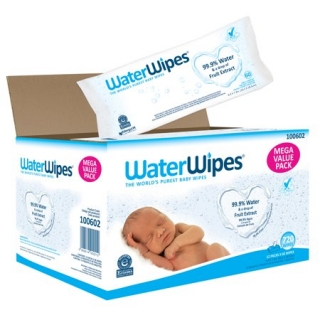 WaterWipes Baba Törlőkendő, MEGA VALUE PACK, 12x60 db