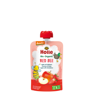 Holle Red Bee BIO tasak, alma-eper, 100g