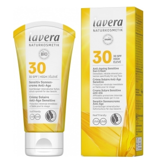 Lavera SUN Sensitive Anti-age napvédő arckrém SPF30, 50ml